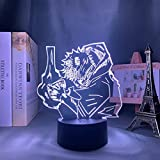 Anime Lámpara Jujutsu Kaisen Led Luz de Noche para Dormitorio Decoración Nightlight Regalo Cumpleaños Luz Jujutsu Kaisen Envío Gota