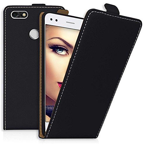 mtb more energy® Flip-Case Tasche für Huawei P9 Lite Mini / Y6 Pro 2017 (5.0'') - schwarz - Kunstleder - Schutz-Hülle Cover