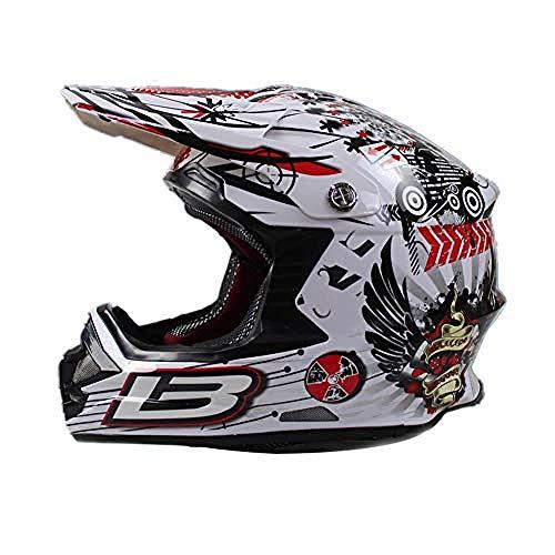 Casco de Motocross para Adultos Casco Cruzado Unisex Casco de Moto para...