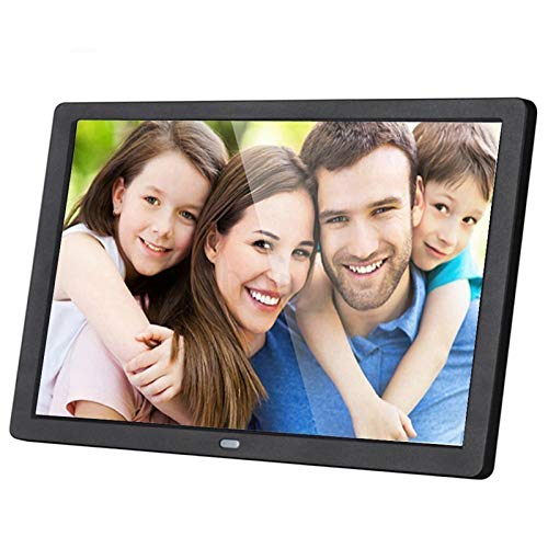 JJIIEE Digital Photo Frame, 19 Inch 1366×768 Digital Photo Frame Built-in HD Speaker Automatically Rotate Image with Clock/Calendar/Picture Slideshow/Picture Zoom