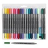 Rotuladores textiles, trazo ancho: 2,3+3,6 mm, colores adicionales, 20ud