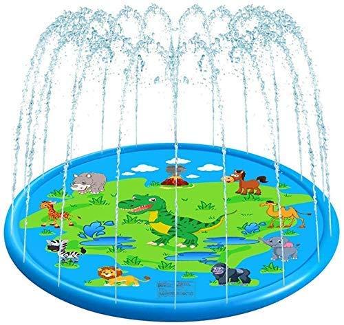 IAIZI Cospargere e Splash Gioca Mat, all'aperto Giocattoli Bambini del Bambino Estiva Play Beach Outdoor Garden Lawn Sprinkler Cuscino, Giallo (Colore: Blu) ZGHE (Color : Blue)