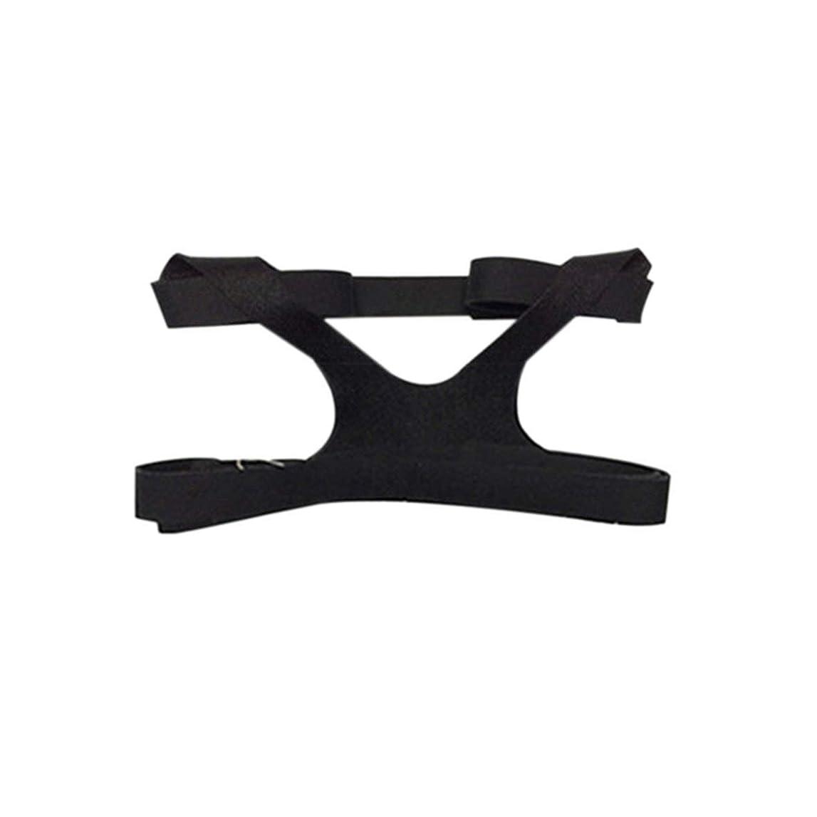 黒人欠かせない敬なBlackfell ユニバーサルデザインヘッドギアコンフォートジェルフルマスク安全な環境交換CPAPヘッドバンドなしマスク用PHILPS