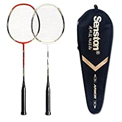 ★ PACKAGE INCLUDES ★ 1 Badminton Bag; 2 Badminton Rackets (Badminton racquet has the Stringing about 20lbs) ★ HIGH QUALITY ★ The racket has SOLID construction with ONE-PIECE design outside and built-in T-joint inside. It have been further improve the...