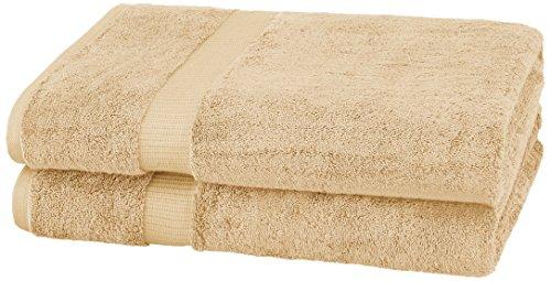 Pinzon Toalla de baño de algodón orgánico (2 Unidades), sábana de baño, Arena, Bath Sheet 2 - Pack, 1