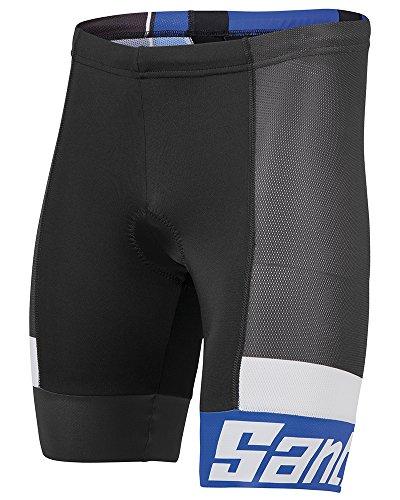 Santini Fashion Sleek Aero - Culote de Ciclismo para Hombre, Color Turquesa,...