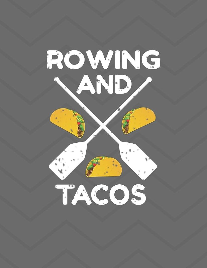 農学レザー友だちRowing And Tacos Notebook - Wide Ruled