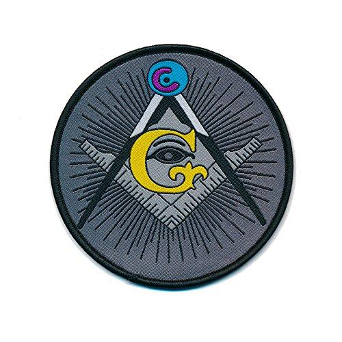 90Ã'Â mm Masonic Mason Square and Compass Masonic Iron-on Patch 0805Ã'Â x by hegibaer