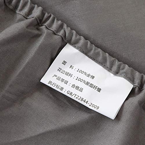 N / A KING SIZE sheet,Solid color cotton sheets, non-slip mattress cover, single double king size bedspread-black_180cm*200cm*30cm