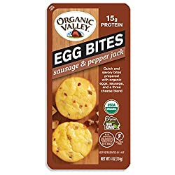 Organic Valley Sausage and Pepper Jack Organic Egg Bites, 2 Count, 4 oz