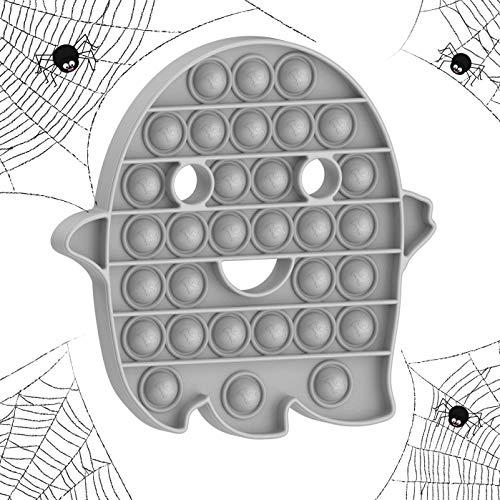 pop it zucca SilverBat Fantasma Giocattolo sensoriale Anti-Stress Push Pop It Bubble Fidget Agitarsi Giocattolo per Bambini e Adulti per alleviare Lo Stress e Migliorare la concentrazione (Grigio)