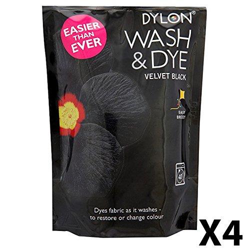 Dylon Waschen und Färben, Puder, Schokolade Black 4 Packs
