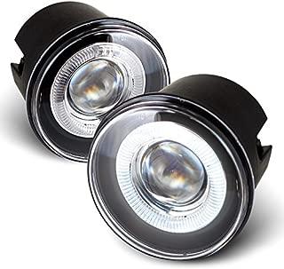 For Chrysler 300C   Dodge Charger SRT-8   Caliber SRT-4 LED Halo Ring Fog Light Assembly W/Switch + Wiring + Relay