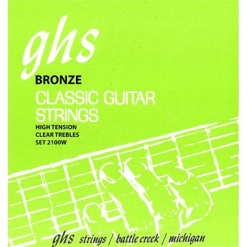 GHS 2100W Classic Guitar Tie End String Regular de fósforo bronce Bass