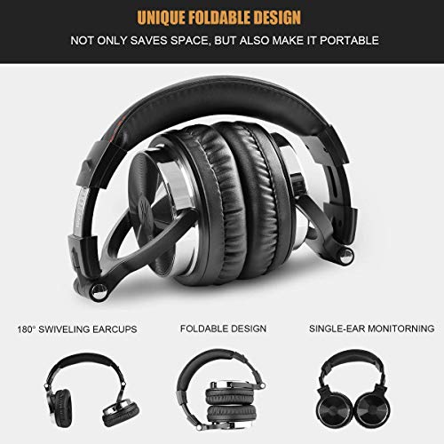 OneOdio Adapter-Free Closed Back Over Ear DJ Stereo Monitor Headphones, Professional Studio Monitor