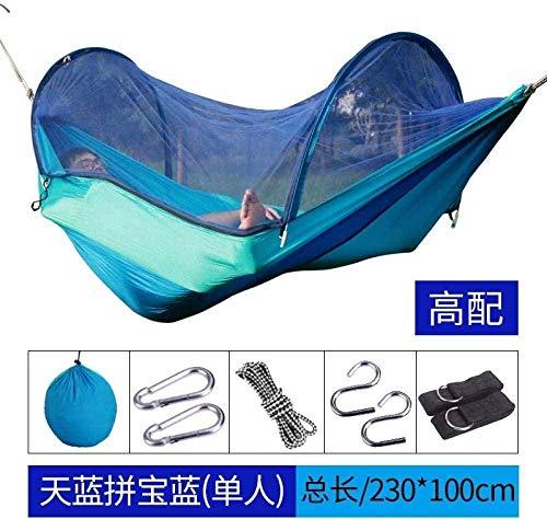 YSCYLY - Hamaca de jardín, silla colgante de 230 x 100 cm, con mosquitera, bolsa de viaje, Hanging Bed Outdoor Swing Hammocks, azul, 230*100cm