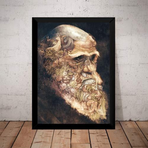 Quadro Decorativo Arte A Origem Das Especies Charles Darwin