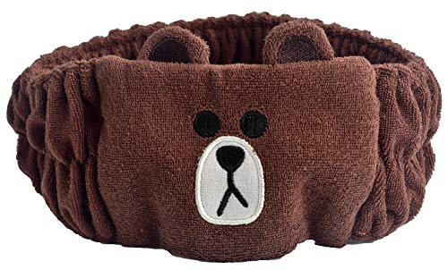 UPLEYING Novelty Characters Cartoon Headbands Cony Duck Bear Sheep Ear Shape Head Wrap Girl Women (A)