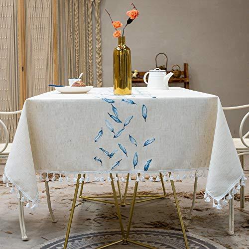 Unbekannt Rechteckige Tischdecke wasserdichte Tischdecken Abwischbar Waschbar Leinen Tischdecke Esstischdecken Party Tabe Tücher 90X90CM