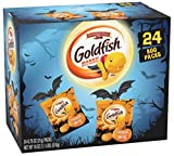Pepperidge Farm Goldfish Cheddar Crackers, Halloween Edition Multi-pack Box, 24-count Snack Packs