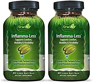 Irwin Naturals Inflamma-Less with Turmeric & Quercetin - Promotes Comfort, Mobility & Flexibility - Healthy Inflammatory R...