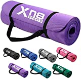 Xn8 NBR Yoga Mat 1/2-Inch Extra Thick All-Purpose Non Slip High Density Anti-Tear Exercise Yoga Mats...