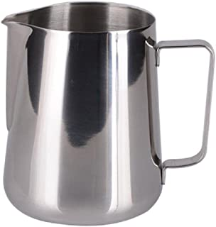 King International Stainless Steel Frothing Pitcher Milk Pot, 300ml, Silver