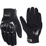 Pitzo Probiker Tribe Full Finger Riding Gloves (Black, Large)