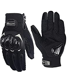 Pitzo Probiker Tribe Full Finger Riding Gloves (Black, L)