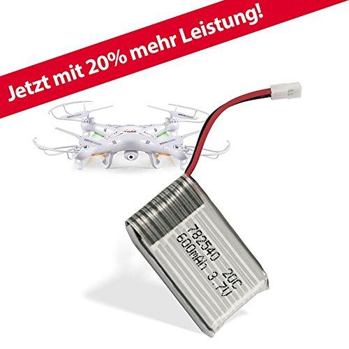 Ersatzakku 600 mAh für SYMA X5 ( C ) Quadrocopter Drohne 20% mehr Leistung / Flugzeit