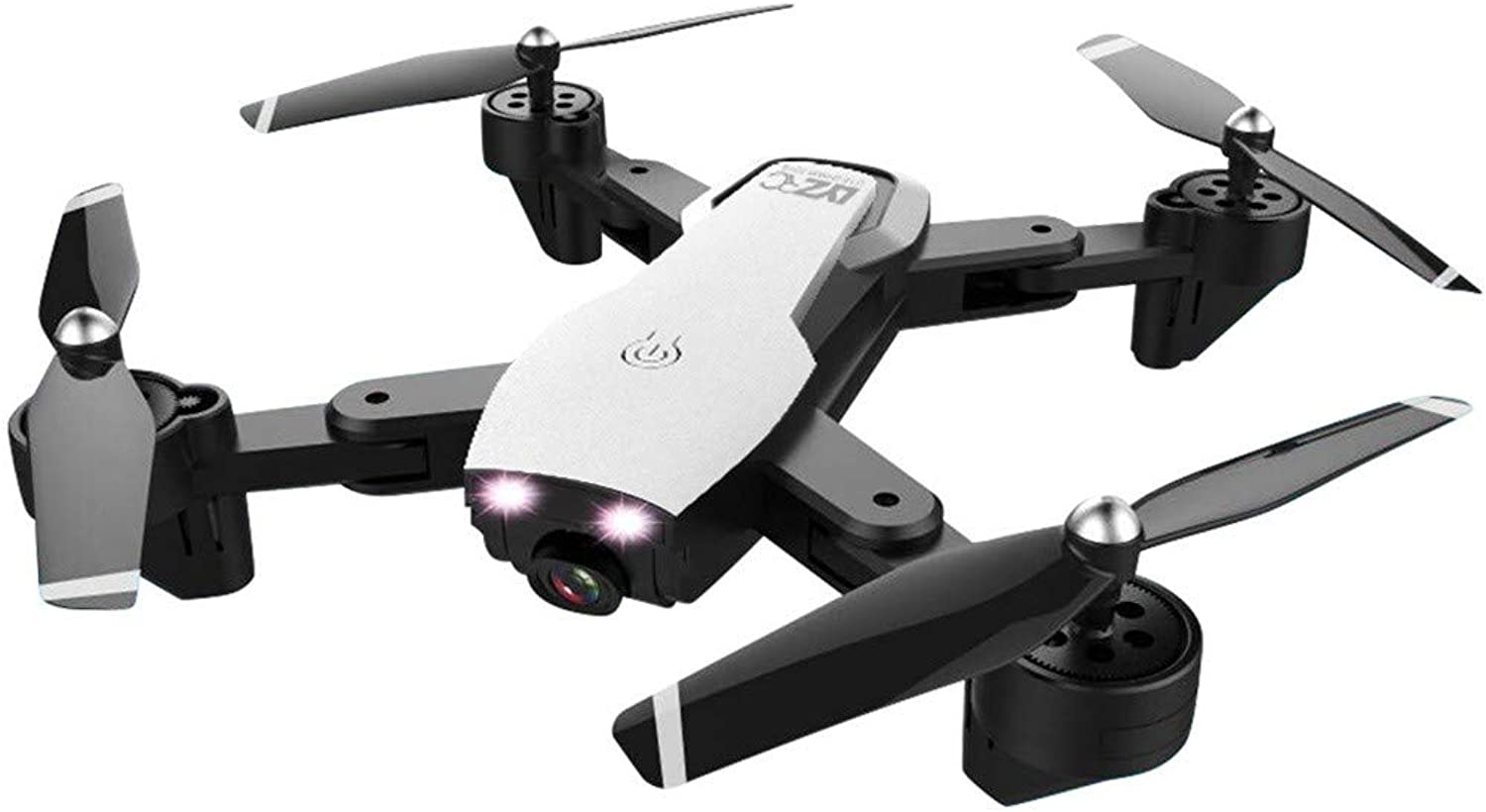 JIANGfu Foldable RC Drone, Dual Camera Optical Flow Remote Control Quadcopter, L107 2.4Ghz 4CH 5MP 1080P Wifi FPV, Birthday Toys Gifts (White)