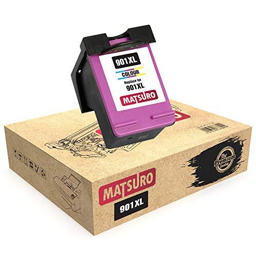 Matsuro Original   Kompatibel Remanufactured Tintenpatrone Ersatz für HP 901XL 901 (1 Farbe)