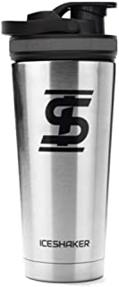 Ice Shaker Stainless Steel Insulated Water Bottle Protein Mixing Cup (As seen on Shark..