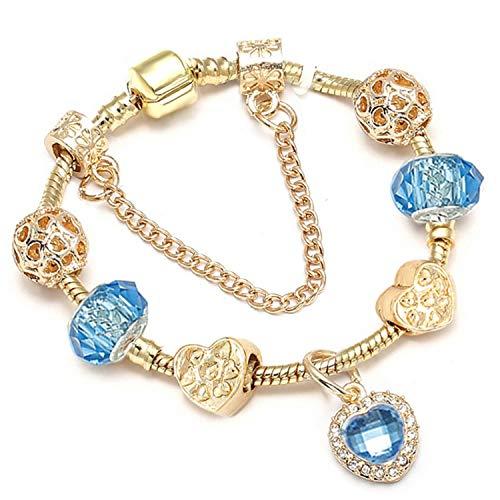 Pulsera Brazalete, Joyeria Regalo, Dropshipping New Jewelry Women Charm Bracelet New Fine Bracelet Gold Bracelets Pulseras Mujer 006 17cm
