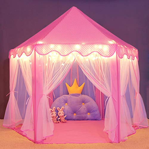 Wilwolfer Princess Castle Play Tent for Girls