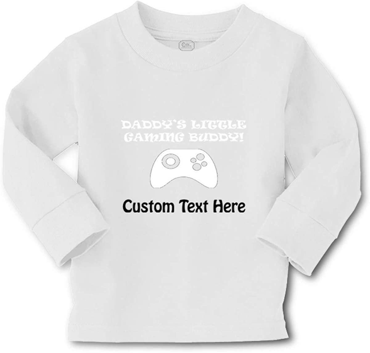 Custom Kids Long Sleeve T Shirt Daddy's Buddy! Gamer Dad Boy & Girl Clothes
