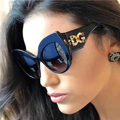 Gafas De Sol Nuevo Diseño De Marca De Moda para Mujer Gafas De Sol De Gran Tamaño para Ojos De Gato Gafas De Sol con Montura De Diamante para Mujer Uv400 Randomcolor