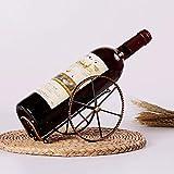 Wine Rack Salon Fer Forgé Support de rangement Wine Rack affichage décoration rack vin Cabinet décoration Rack de vin portugais KaiKai
