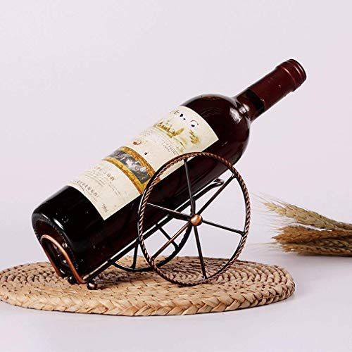 DJY-JY Moderno minimalista creativo estante de vino decoración de dos ruedas forma decorado sala de estar vino estante hierro forjado almacenamiento