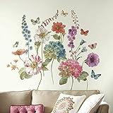 RoomMates Lisa Audit Garden Flowers - Vinilo decorativo gigante para pared, diseño de flores, multicolor