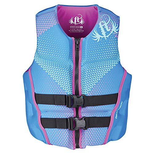 Full Throttle 142500-500-830-19 Adult Women's Blue Rapid-Dry Flex-Back Vest - Medium