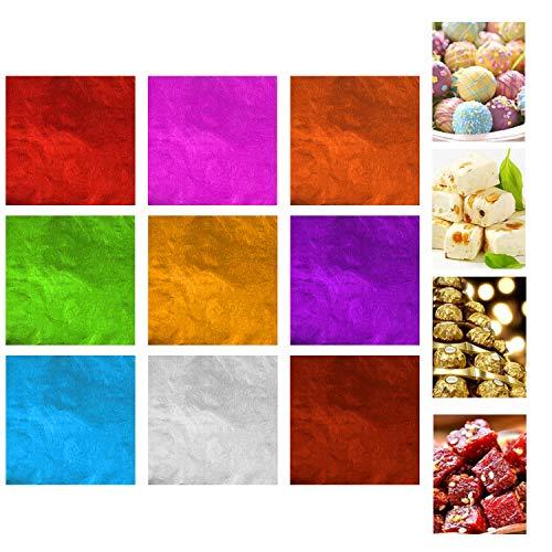 900 Envolturas de Chocolate Kare & Kind – Envoltorios de Papel Aluminio para Dulces – No Tóxicos y Seguros para Alimentos – Empaque para Dulces Hechos en Casa, Piruletas y Brownies – Además para DIY