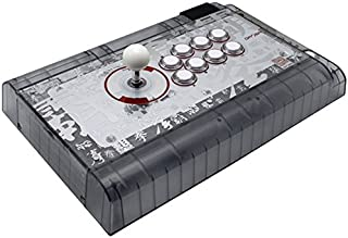 Qanba Crystal Joystick for PlayStation 4 and PlayStation 3 and PC (Fighting Stick) Officially Licensed Sony Product