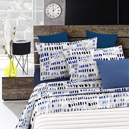 Italian Bed Linen Fantasy Completo Letto, Microfibra, Punti e Linee, Matrimoniale