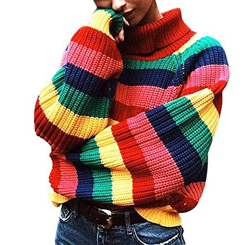 fun rainbow sweater for women