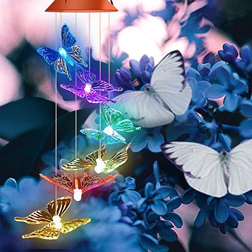 farfalla bianca LED Giardino Luci Solari NUOVO LED solare lampada solare Libelle