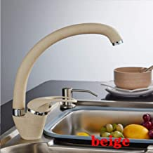 Takestop/® grifo fregadero ca/ña baja Fragranite blanco 88591/fregadero cocina grifo monomando grifer/ía