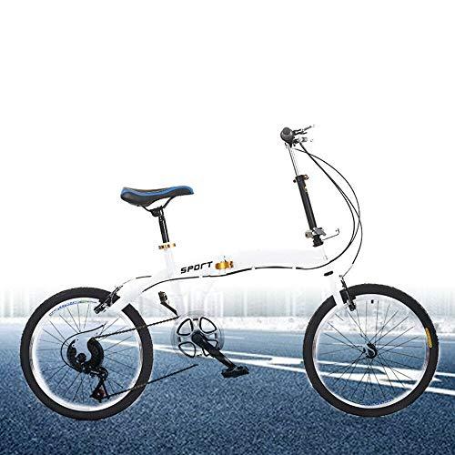 20 Zoll Klapprad Fahrrad - Faltrad Klappfahrrad 7 Gänge Folding Bike Tragbare Fahrrad Cruiser für Herren, Jungen, Mädchen und Damen