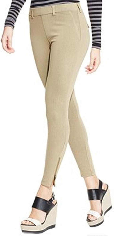 HUE Women's Khaki Skimmer Leggings with Ankle Zippers