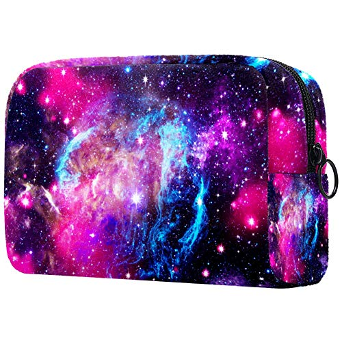 Trousse de toilette pour femme avec motif galaxie et étoiles